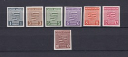 Provinz Sachsen - 1945 - Michel Nr. 66/71 + 72 - Sowjetische Zone (SBZ)
