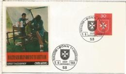ALEMANIA FDC BONN 1969 ORDEN DE MALTA MEDICINA SALUD AYUDA - Refugiados