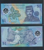 1996 Negara Brunei Darussalam ONE DOLLAR $1 Banknote Currency Money (#147) UNC - Brunei