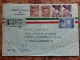 ECUADOR - Raccomandata Del 1951 Inviata In Italia Per Via Aerea + Spese Postali - Ecuador