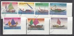 Vietnam 1989 - Fish Boats, Imperforated, Canceled - Viêt-Nam