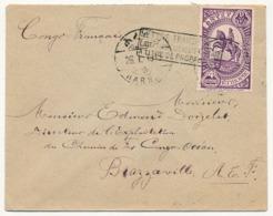 """ETHIOPIE - Envel. Pour Brazzaville 1934 Cachet """"Lettre Transportée Exceptionnellement Par Avion à Titre De Propagande"""" - Ethiopie"""