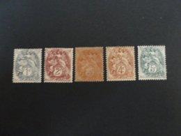 N° 107-108-109c-110-111- Neuf - 1900-29 Blanc