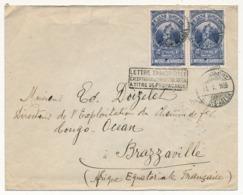 """ETHIOPIE - Envel. Pour Brazzaville 1935 Cachet """"Lettre Transportée Exceptionnellement Par Avion à Titre De Propagande"""" - Ethiopie"""