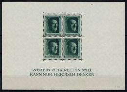 Deutsches Reich 646 Viererblock Herzstück Aus Block Luxus Postfrisch MNH - Briefe U. Dokumente