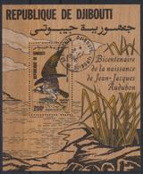 Dschibuti Flugpost Block 110 Auf Holz Greifvögel Fischadler Luxus Gest.Kat 15,00 - Dschibuti (1977-...)