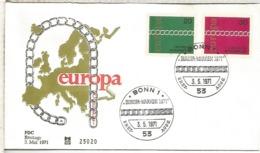 ALEMANIA FDC BONN 1971 EUROPA CEPT - Europa-CEPT