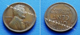 UNITED STATES USA 1 Cent ONE CENT 1911 - LINCOLN - 1909-1958: Lincoln, Wheat Ears Reverse