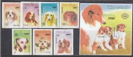 Vietnam 1990 - Dogs, Set Of 7 Stamps+s/sh, Imperforated, Canceled - Viêt-Nam