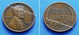 UNITED STATES USA 1 Cent ONE CENT 1919 - LINCOLN - 1909-1958: Lincoln, Wheat Ears Reverse