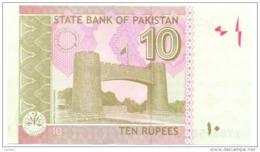Pakistan UNC Banknote, Re.10/-, Yasin Anwar Signature, Year 2013-XJ - Pakistan