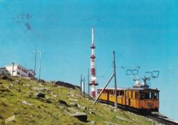 64 L'arrivée Du Train à Crémaillère Au Sommet De La Rhune - France