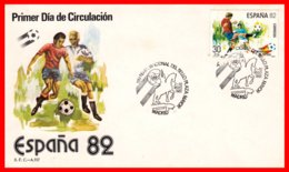 ESPAÑA SOBRE  PRIMER DIA DE CIRCULACION AÑO 1982 CAMPEONATO MUNDIAL FÚTBOL 82 - FDC