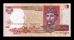 Ucrania Ukraine 2 Hryven Prince St. Vladimir 1995 Pick 109a SC UNC - Ucrania