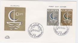 Luxembourg 1966 FDC Europa CEPT (G102-42) - Europa-CEPT