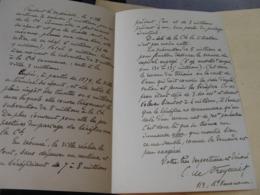 INTERESSANTE LETTRE AUTOGRAPHE SIGNEE DE CHARLES DE FREYCINET 1869 MINISTRE PDT DU CONSEIL Sur TRAVAUX EGOUTS PARIS - Autógrafos
