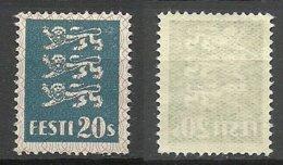 ESTLAND Estonia 1928 Michel 82 Thin Paper Type (EMS 83x) MNH - Estland