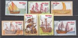 Vietnam 1990 - Ships, Set Of 7 Stamps, Imperforated, Canceled - Vietnam