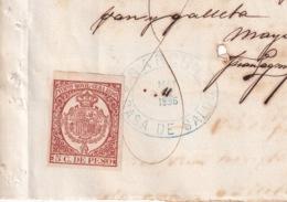E6384 CUBA SPAIN 1895 RECIBO DE PAN Y GALLETES CASA DE SALUD GARCINI REVENUE TIMBRE MOVIL - Historical Documents