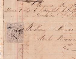 E6383 CUBA SPAIN 1871 SUGAR MILLS SAN JOAQUIN REVENUE RECIBOS Y CUENTAS. - Historical Documents