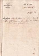 E6385 CUBA SPAIN 1868 DOCs DECRETO SOBRE LA GUERRA INDEPENDENCIA SIGNED CAPTAIN GENERAL FRANCISCO SERRANO. - Historical Documents