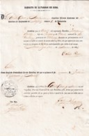 E6389 CUBA SPAIN 1865 MILITAR DOC REGIMIENTO DE NAPOLES - Historical Documents