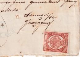 E6390 CUBA SPAIN 1895 RECIBO DE PAN Y GALLETES CASA DE SALUD GARCINI REVENUE TIMBRE MOVIL. - Historical Documents