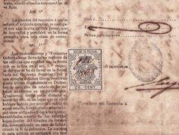 E6395 CUBA SPAIN 1867 CHINA COLONO CEDULA SLAVE SLAVERY REVENUE POLICE STAMP. - Historical Documents