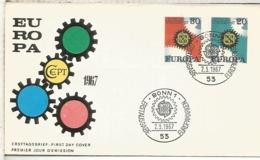 ALEMANIA FDC BONN 1967 EUROPA CEPT - 1967