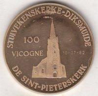 100 VICOGNE 1982 STUIVEKENSKERKE-DIKSMUIDE DE SINT-PIETERSKERK - Tokens Of Communes