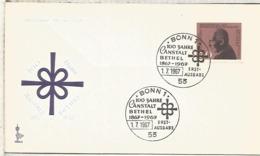 ALEMANIA FDC BONN 1967 ANSTALT BETHEL MEDICINA ENFERMEDAD PSIQUIATRIA - Enfermedades