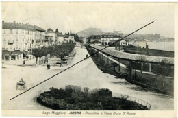 ARONA  NOVARA  Pensilina E Viale Duca D'Aosta  Lago Maggiore - Novara