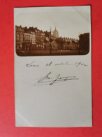 LENS *  Carte Photo  *  Rue De La Gare De 1902 - Lens