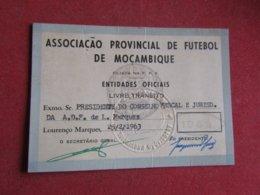 Mozanbique - Moçambique - Association Provincial De Football De Mozanbique - Associação De Futebol De Moçambique 1963 - Tickets D'entrée