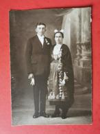 Photographie  * Bretagne * Costume Et Coiffe Mariage à Identifier - Personnes Anonymes