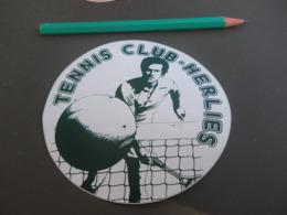 Autocollant - Ville - HERLIES - TENNIS CLUB - Pegatinas
