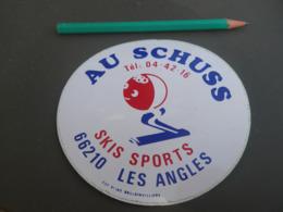 Autocollant - Ville - LES ANGLES - SKI SPORTS AU SCHUSS - Stickers