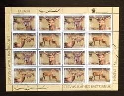 Tajikistan 2009; WWF Fauna Wildlife Animals Deers; Mammals; MNH / Neuf** / Postfrisch!! - Tadschikistan