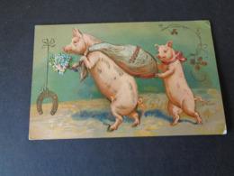 Cochon ( 82 )   Varken  Zwijn   Carte Gaufrée  Reliëf  Cochon Personalisé - Varkens