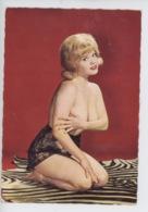 Pin-Up Seins Nus - Culotte Dentelle, Peau De Zèbre (cp Vierge N°150/73 Lyna) - Pin-Ups