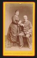 CDV FOTO +- 1870  10.5 X 6.5 CM - FOTOGRAAF  - PHOTOGRAPHIE ARTISTIQUE  ANTWERPEN    - 2 SCANS - Oud (voor 1900)