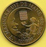 100 MANNEKES 1981 DIXMUDE - Tokens Of Communes