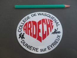 Autocollant - Ville - DUNIERES SUR EYRIEUX - WASQUEHAL Collège - Stickers