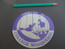 Autocollant - Ville - WASQUEHAL ARDECHE 1988 - Stickers
