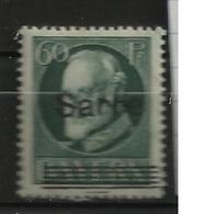 SARRE            N°  YVERT  : 26   NEUF AVEC  CHARNIERES      ( 01/04  ) - 1920-35 Société Des Nations