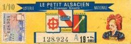 """BILLET DE LOTERIE De 1951 """"LE PETIT ALSACIEN"""" - Billets De Loterie"""