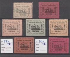 VENEZUELA 1903 – Estado Guayana (Yvert N° 87 à 91 + 88a + 90a) Serie Completa 7 Sellos - Venezuela