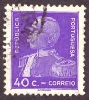 Portugal 1934 - General Carmona ( Papel Porcelana - Porcelain Paper ) - 1910-... République