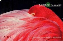 SUIZA. PREPAID. 075 Colourful Birds 2 - Macaw. RGO83. TIRAGE 30000 (014) - Pájaros