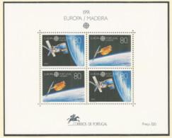 PORTUGAL Madeira 1991 Mint Block MNH(**) - EUROPA Space - Blocks & Sheetlets
